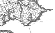 Old Map of Mawnan, 1906