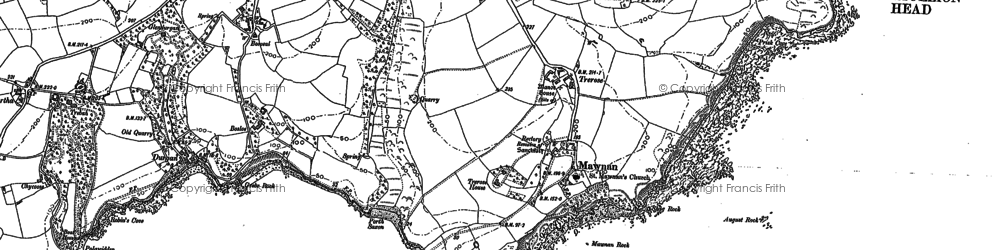 Old map of August Rock in 1906