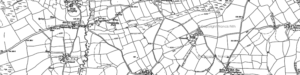 Old map of South Wheatley in 1882