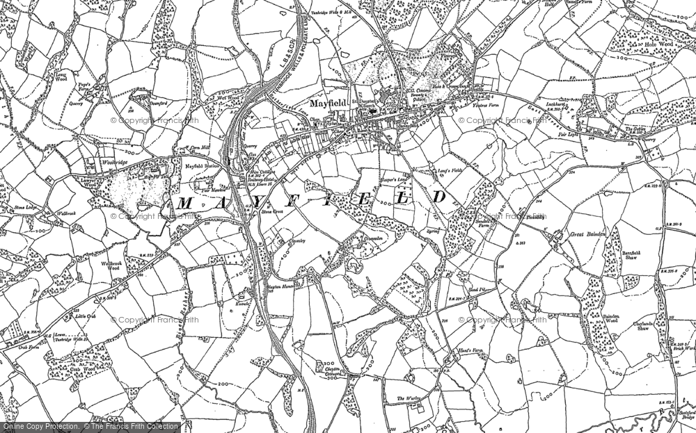 Old Map of Mayfield, 1897 in 1897