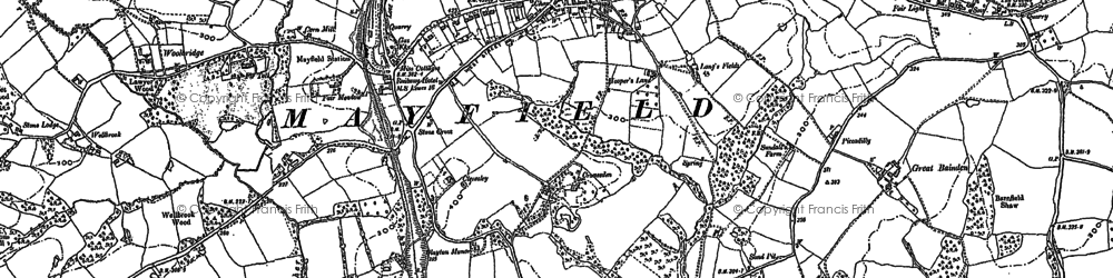 Old map of Mayfield in 1897