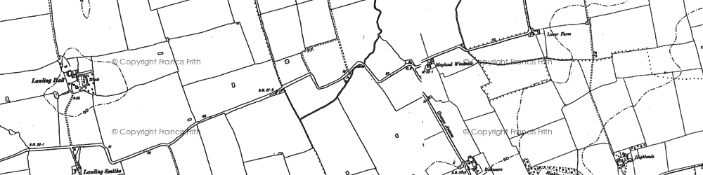 Old map of Lawling Hall in 1895