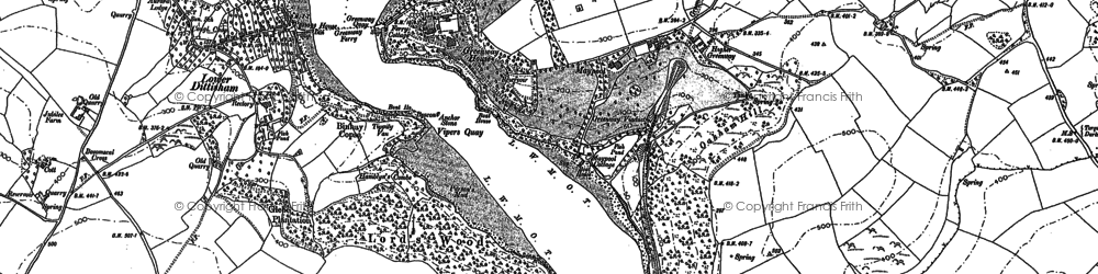 Old map of Anchor Stone in 1885