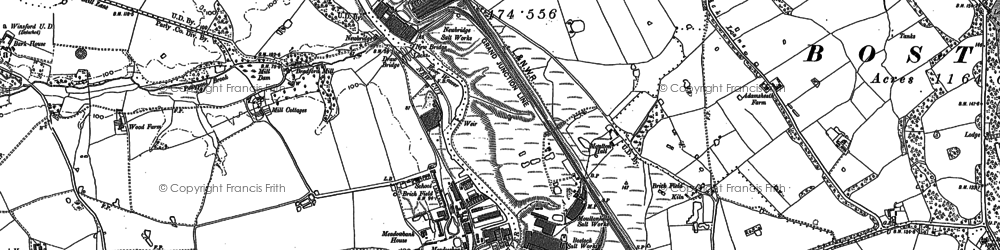 Old map of Bark Ho in 1897