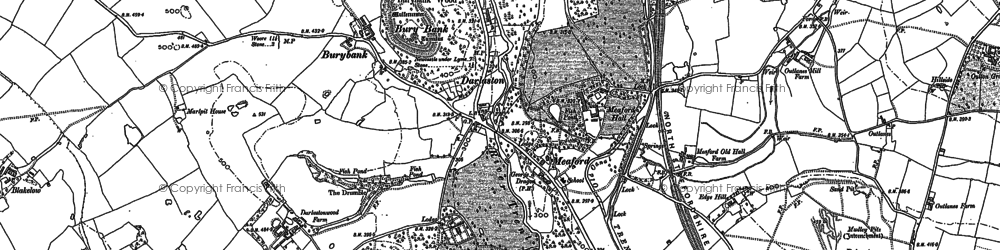 Old map of Tittensor Chase in 1879