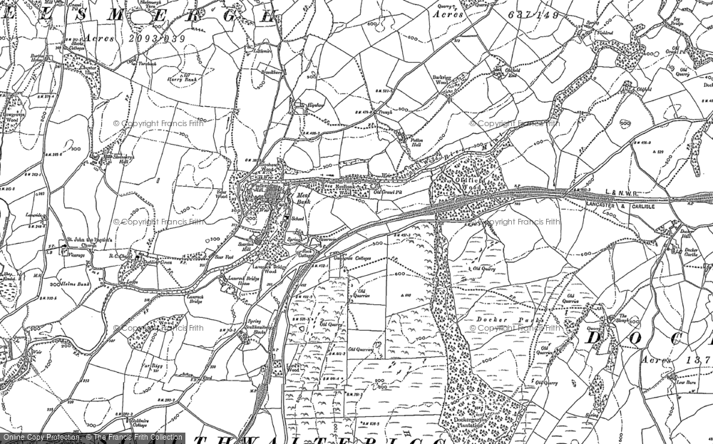 Old Map of Historic Map covering Laverock Bridge Ho in 1897