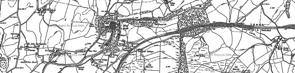 Old map of Laverock Bridge Ho in 1897