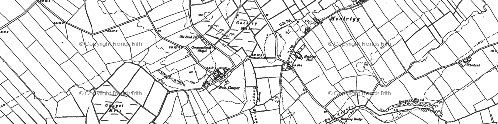 Old map of Whinbank in 1899