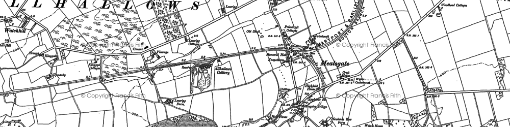 Old map of Whitehall in 1899