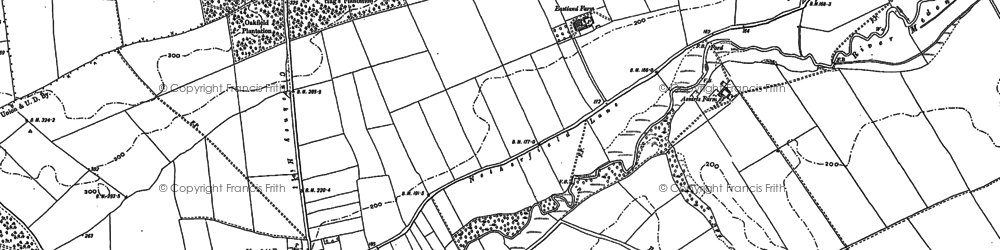 Old map of Lings, The in 1884