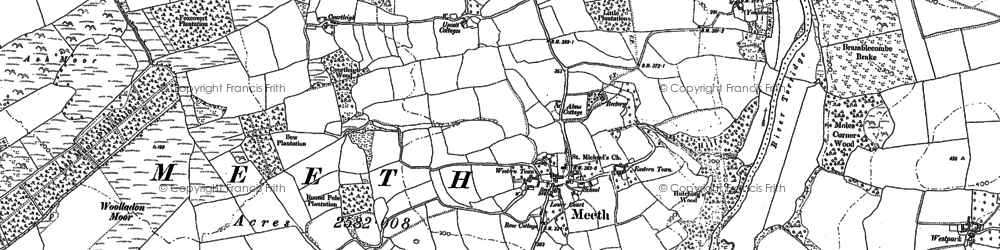 Old map of Woolladon in 1885