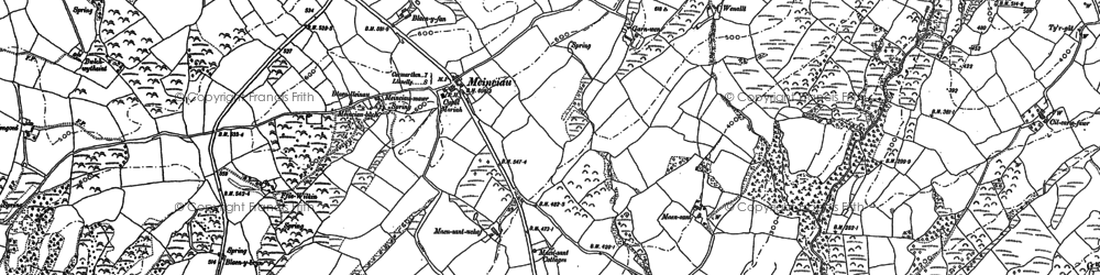Old map of Aber Lledle in 1879
