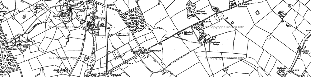 Old map of Lightwood in 1906