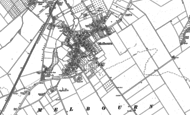 Old Map of Melbourn, 1885