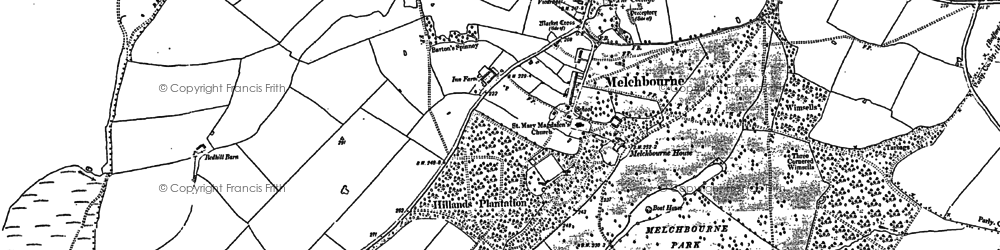 Old map of Worley's Wood in 1899