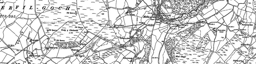 Old map of Tir Barwn in 1876