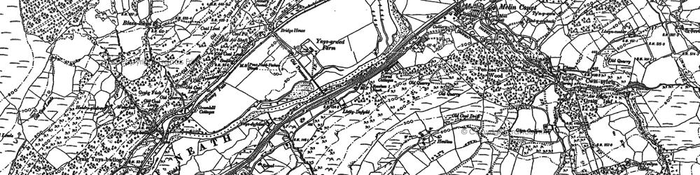 Old map of Banwen Torybetel in 1897