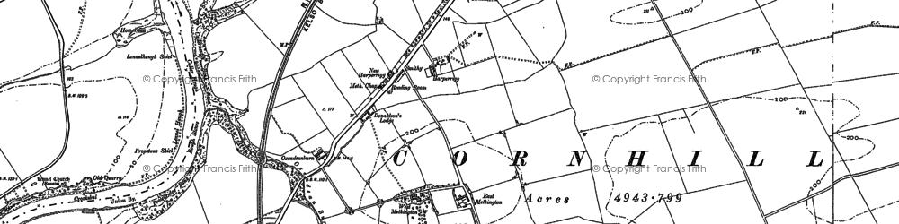 Old map of Lennelhill in 1896