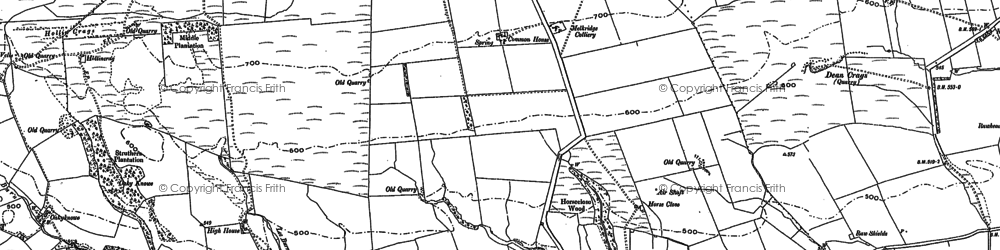 Old map of Winshields in 1895