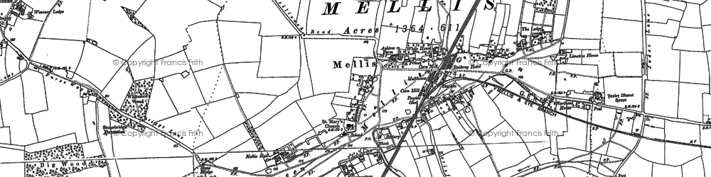 Old map of Yaxley Manor House in 1885