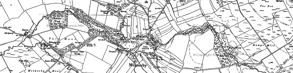 Old map of Todhills in 1898
