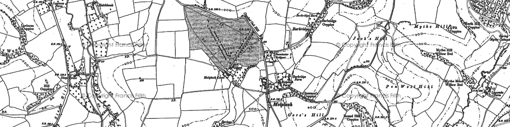 Old map of Melplash in 1886