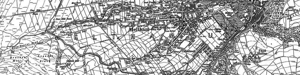 Old map of West Nab in 1890