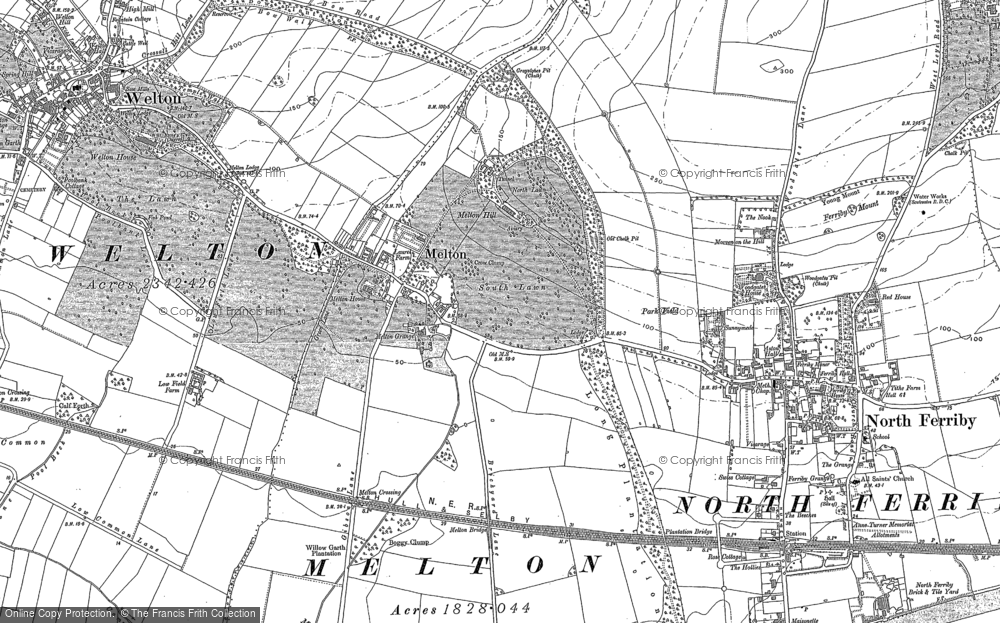 Old Map of Melton, 1908 in 1908