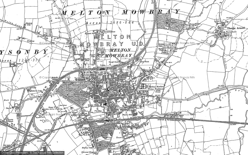Old Maps of Melton Mowbray Francis Frith