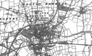 Old Map of Melton Mowbray, 1902