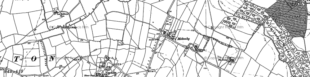 Old map of Wilton Lodge in 1890