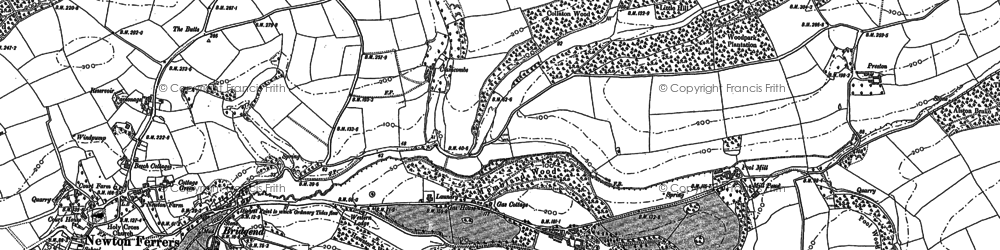 Old map of Wrescombe in 1906
