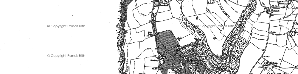 Old map of Menabilly in 1906