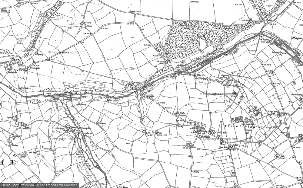 Old Map of Historic Map covering Ashill in 1877