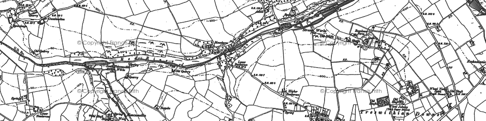 Old map of Ashill in 1877