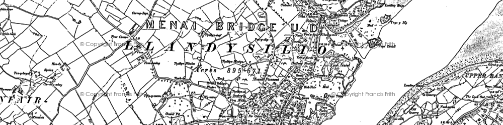 Old map of Ynys Gaint in 1899