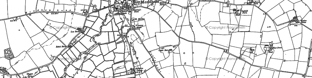 Old map of Withersdale Street in 1882