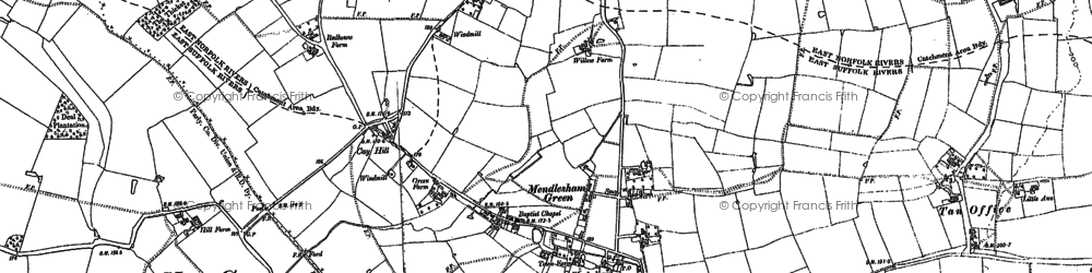 Old map of Lapwings in 1884