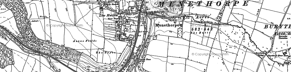 Old map of Low Hutton in 1888
