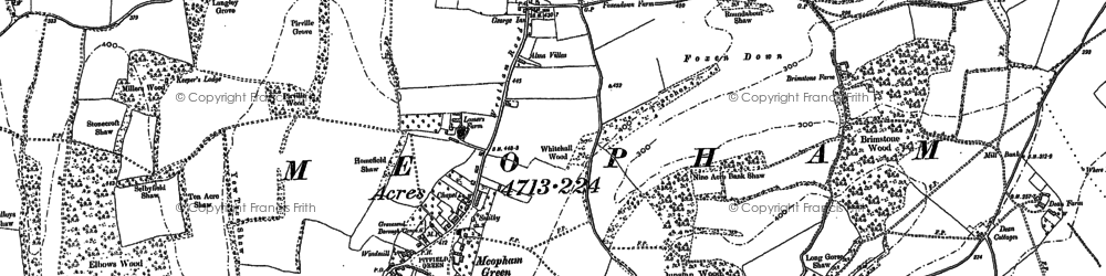 Old map of Meopham in 1895