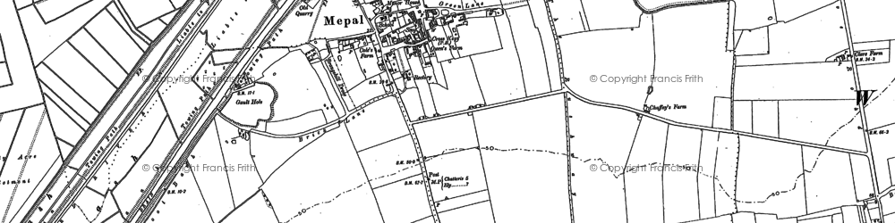 Old map of Widdens Hill in 1886