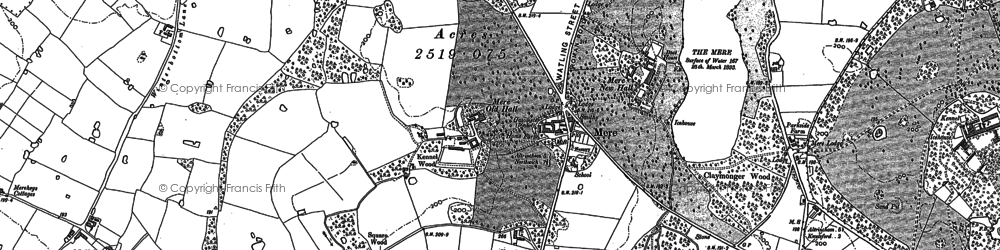 Old map of Winterbottom in 1897