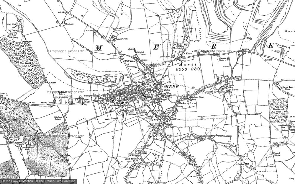 Old Map of Historic Map covering Limpers Hill in 1923