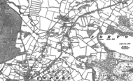 Old Map of Meretown, 1880 - 1900
