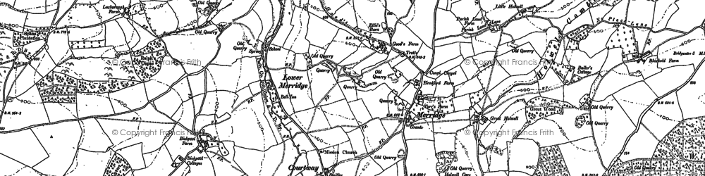 Old map of Wind Down in 1886