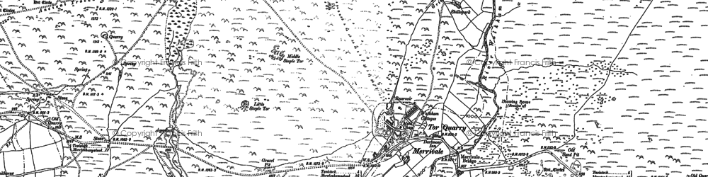 Old map of Whitchurch Common in 1883