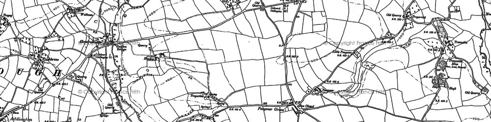 Old map of Pengover Green in 1882