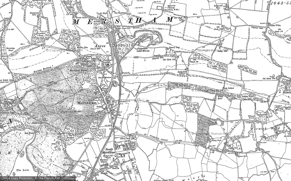 Old Map of Historic Map covering Gatton in 1895