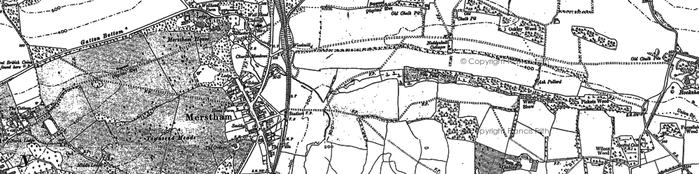 Old map of Gatton in 1895