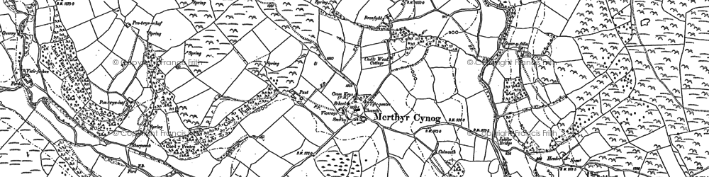 Old map of Yscirfechan in 1886